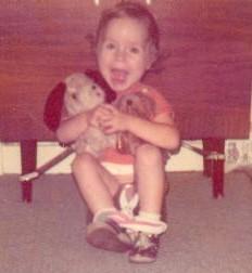 Mami auf dem Thron (ca. 4 Jahre alt)